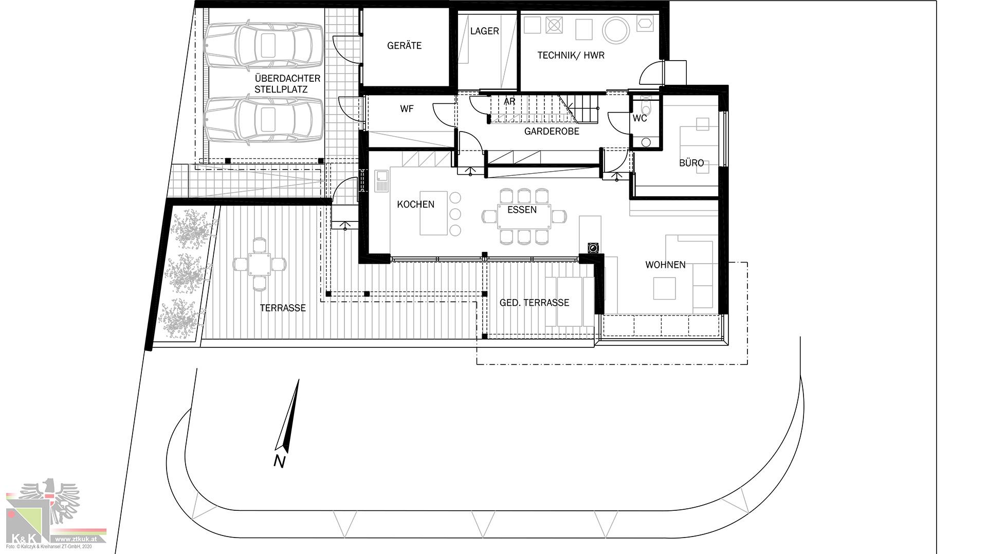 Einfamilienhaus in Holsbauweise - Erdgeschoss