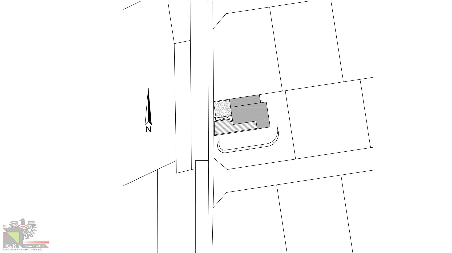 Einfamilienhaus in Holsbauweise - Lageplan