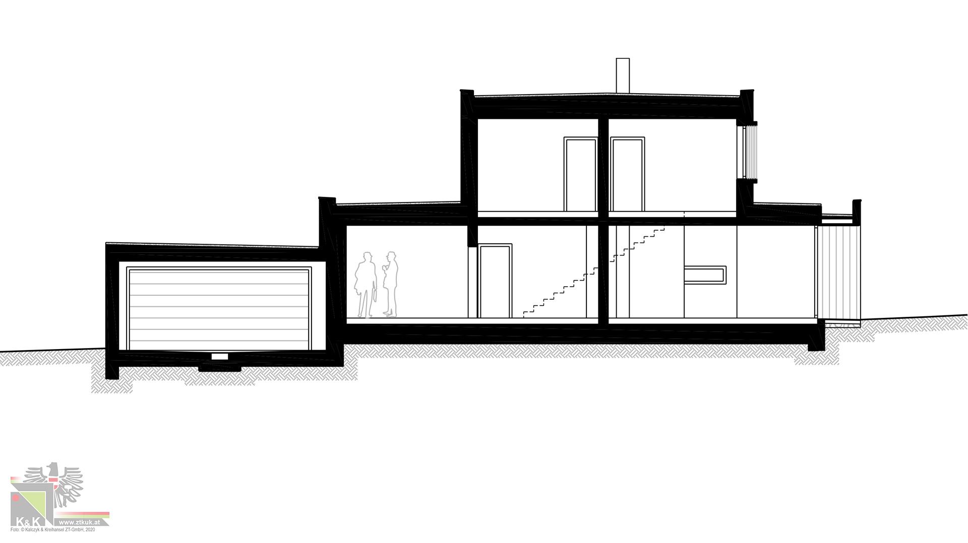 Einfamilienhaus Systemschnitt