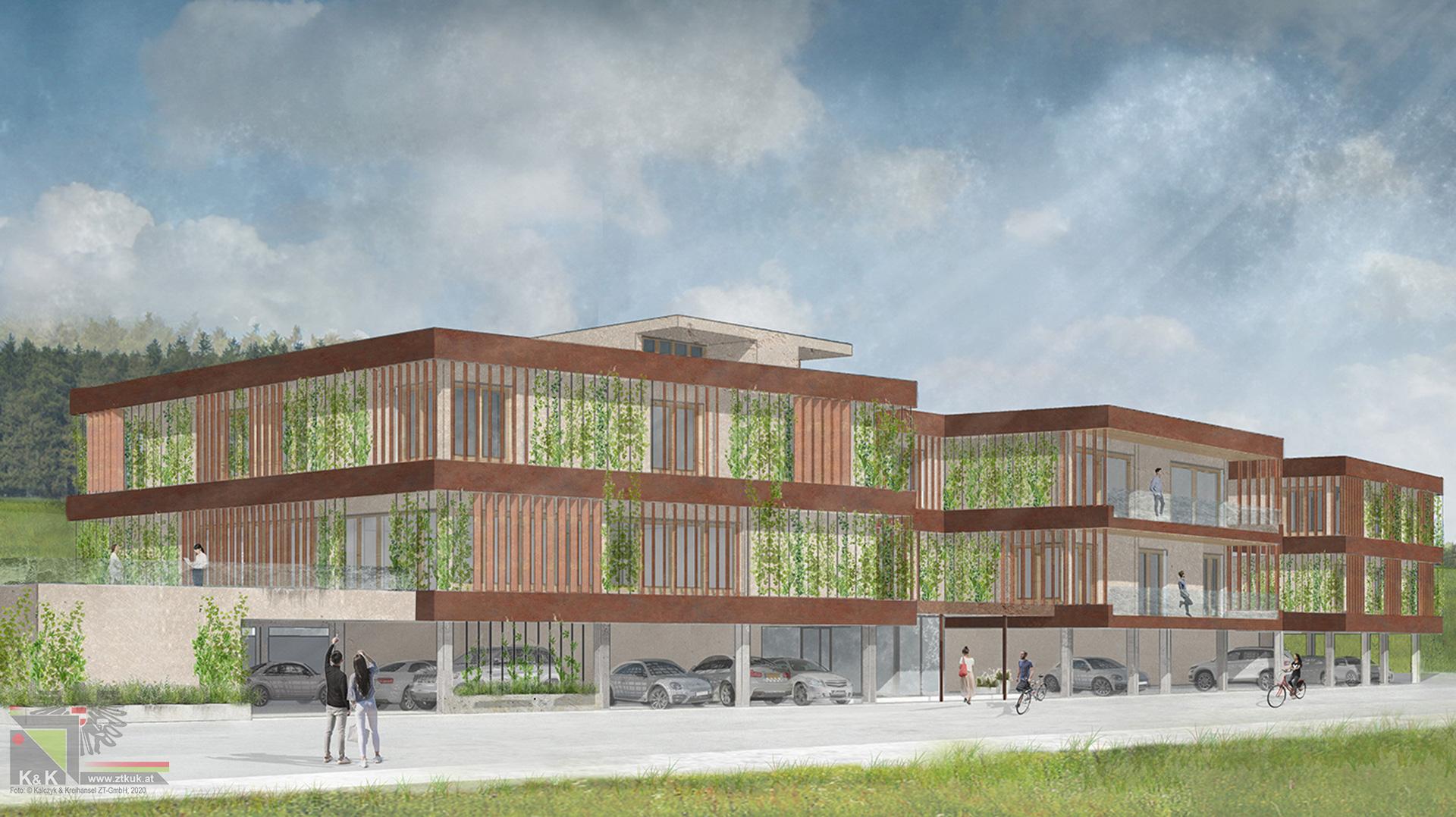 Bürogebäude Entwurf