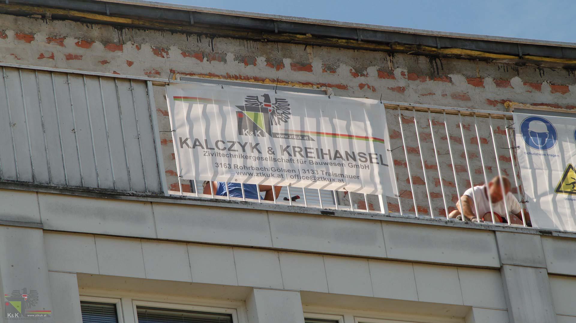 Dachsanierung Hochhaus ZTKuK