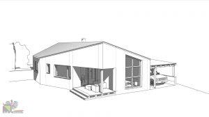 Einfamilienhaus 3D Skizze