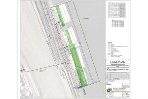 Lageplan Baustelle Lände Linz