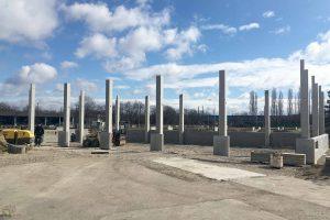 Baustelle Betonsäulen