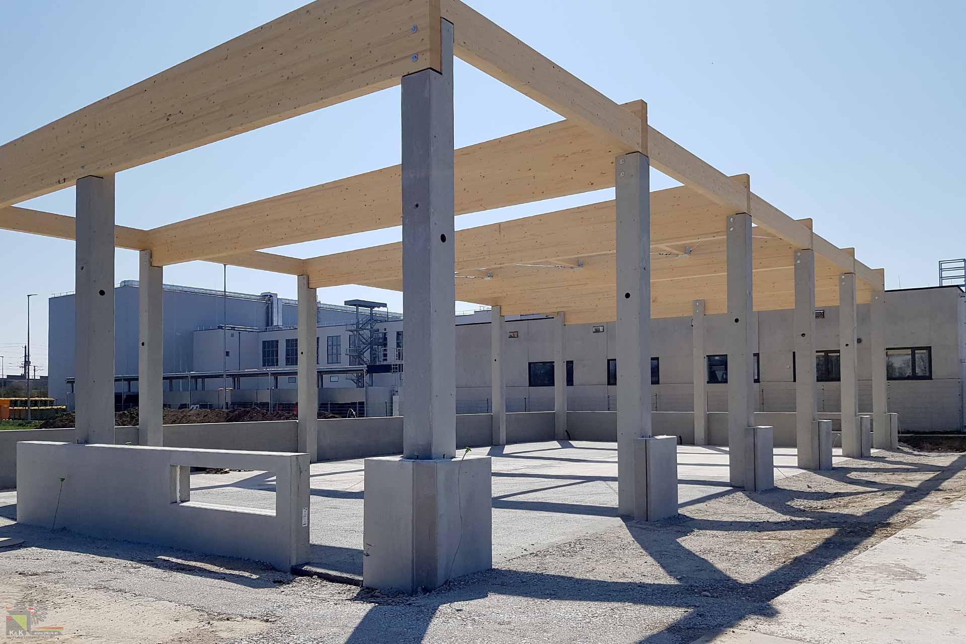 Baustelle Hallenbau
