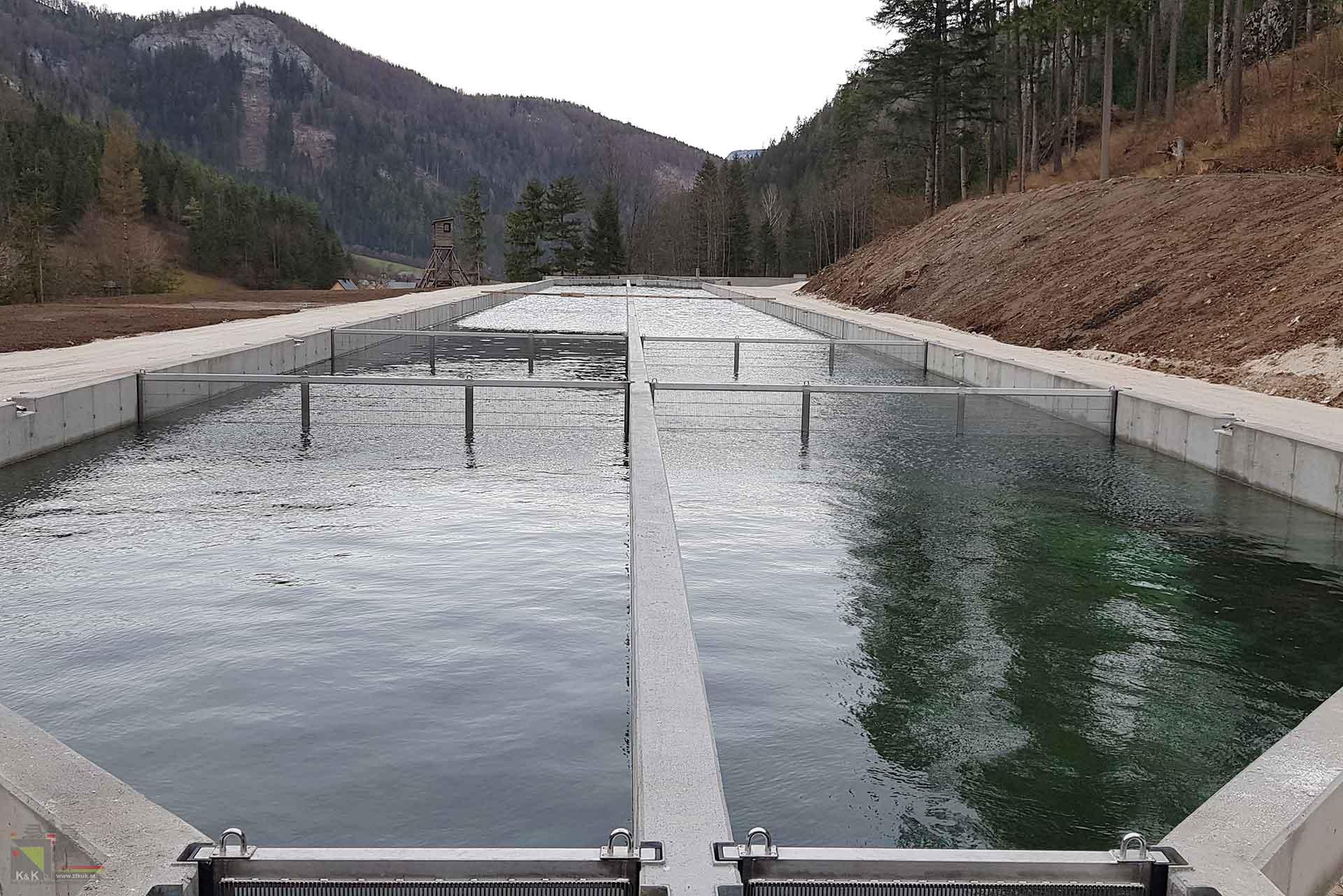 Durchflussanlage Fischzucht
